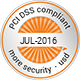 PCI DSS compliant | more security by usd
