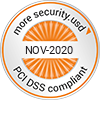Copytrack is PCI DSS compliant badge